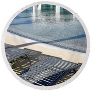 A Swimming Pool Round Beach Towel
