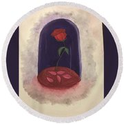 A Tale As Old As Time.... Round Beach Towel