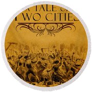 A Tale Of Two Cities Book Cover Movie Poster Art 1 Round Beach Towel