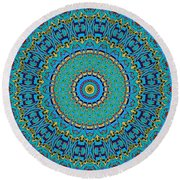 A Thing Of Beauty Round Beach Towel