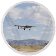 A Tiger Shark Unmanned Aerial Vehicle Round Beach Towel