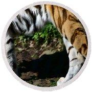 A Tigers Stride Round Beach Towel