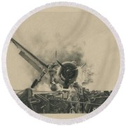 A Time For Courage Round Beach Towel