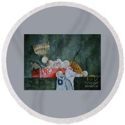 A Time Remembered Round Beach Towel