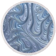 A Touch Of Blue Round Beach Towel