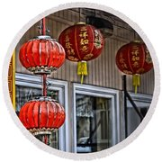 A Touch Of China Round Beach Towel