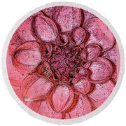 A Touch Of Coral Round Beach Towel