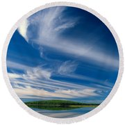 A Touch Of Heaven Round Beach Towel