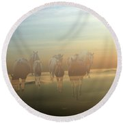 A Touch Of Horse Heaven Round Beach Towel