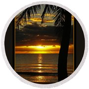 A Touch Of Paradise Round Beach Towel