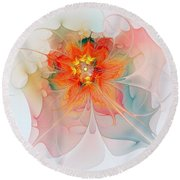 A Touch Of Spring Round Beach Towel
