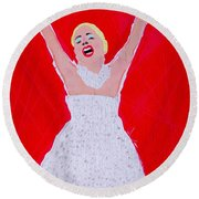 A Touch Of Star Quality Round Beach Towel