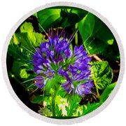 A Touch Of Violet Round Beach Towel