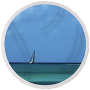 A Tranquill Day Round Beach Towel