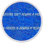 A Treasure Round Beach Towel