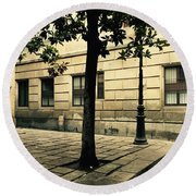 A Tree Grows In Barcelona Round Beach Towel