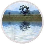 A Trees  Reflection Round Beach Towel