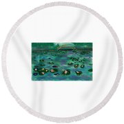 A Tribute To Lillies Round Beach Towel