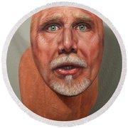 A Trophied Artist Round Beach Towel by James W Johnson