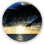 A Tropical Sensation Round Beach Towel