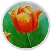 A Tulip For Jolee Round Beach Towel