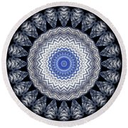 A Twist Of Silver 2 Round Beach Towel