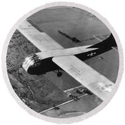 A U.s. Army Air Force Waco Cg-4a Glider Round Beach Towel by Stocktrek Images