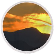 A Vancouver Sunset Round Beach Towel