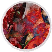 A Very Fairy Tale Of Two Butterflies In Pearlesque Round Beach Towel