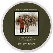 A Veteran's Farewell - Ww1 Round Beach Towel