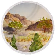 A View At Red Rock Round Beach Towel