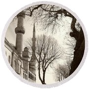 A View From Blue Mosque Round Beach Towel