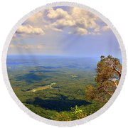 A View From Table Rock Round Beach Towel