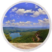 A View From Table Rock South Carolina Round Beach Towel