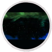 A View From The Heavens Round Beach Towel