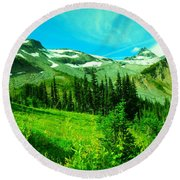 A View Into Paradise Round Beach Towel