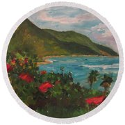 A View Of Carambola Round Beach Towel