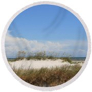 A View Of The Dunes Round Beach Towel