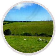 A View Over Exmoor 2 Round Beach Towel
