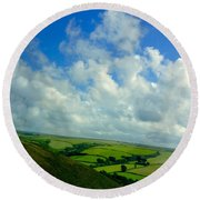 A View Over Exmoor Round Beach Towel