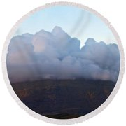 A View To Live For Round Beach Towel