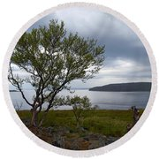 A View To The Arctic Sea Round Beach Towel
