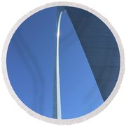 A View To The Top Round Beach Towel