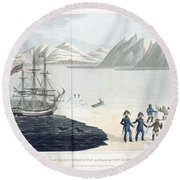 A Voyage Of Discovery Round Beach Towel