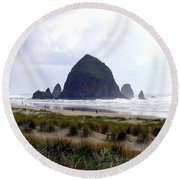 A Walk In The Mist Round Beach Towel