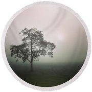 A Walk Through The Clouds #fog #nuneaton Round Beach Towel