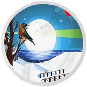 A Walk To Remember Round Beach Towel