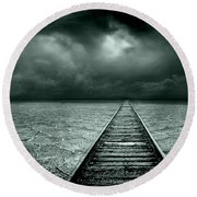 A Way Out Round Beach Towel