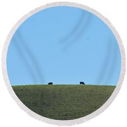 A Whole Lot Of Nothing Round Beach Towel