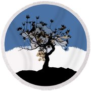 A Will To Live Round Beach Towel by David Lee Thompson